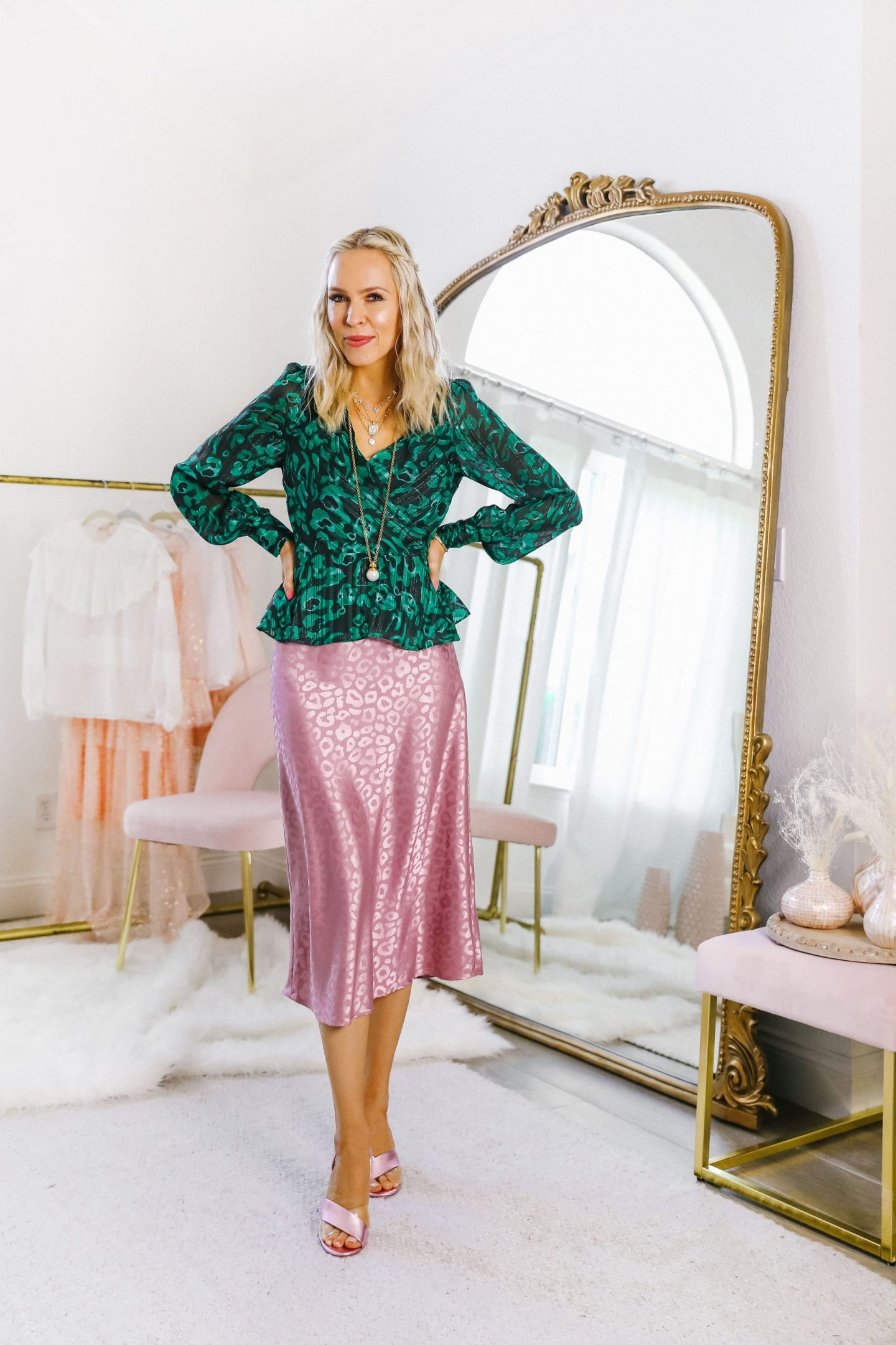 ReNamed skirt Shopbop, 5 ways to style a satin skirt, featured by top San Francisco blogger Lombard and Fifth.
