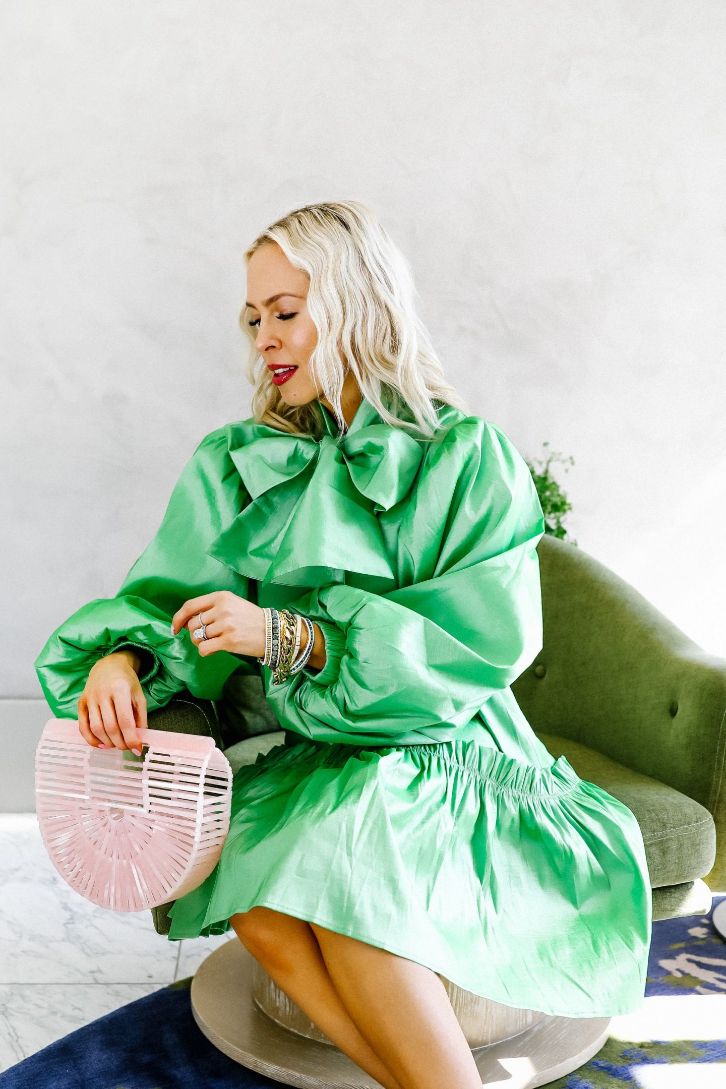 Victoria Emerson best accessory sale and St. Patrick's Day Sister Jane green dress, featured by top San Francisco blogger Lombard and Fifth.
