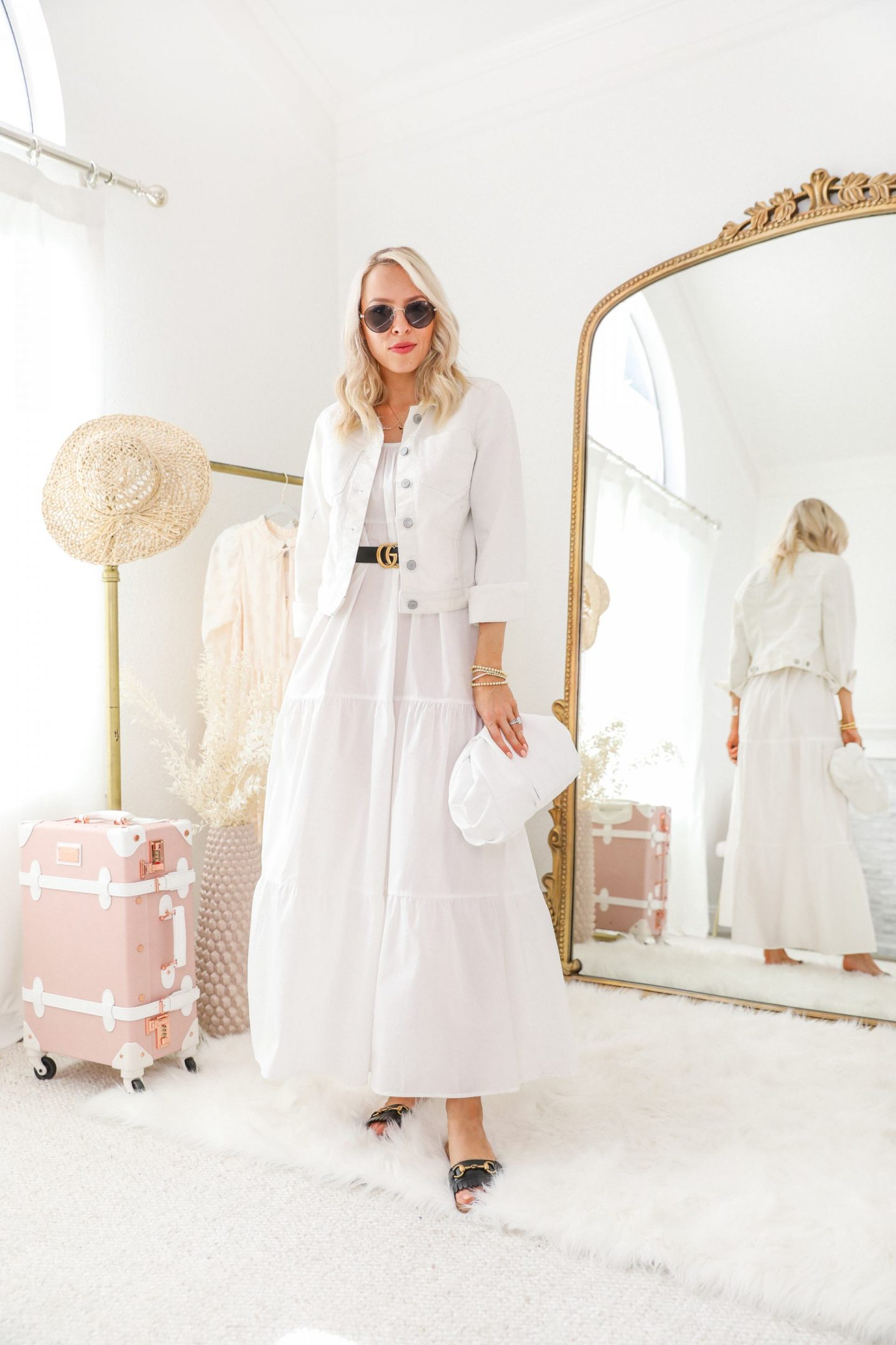 Five wats to style a little white maxi Target dress for Spring, featured by top San Francisco fashion blogger Lombard and Fifth.