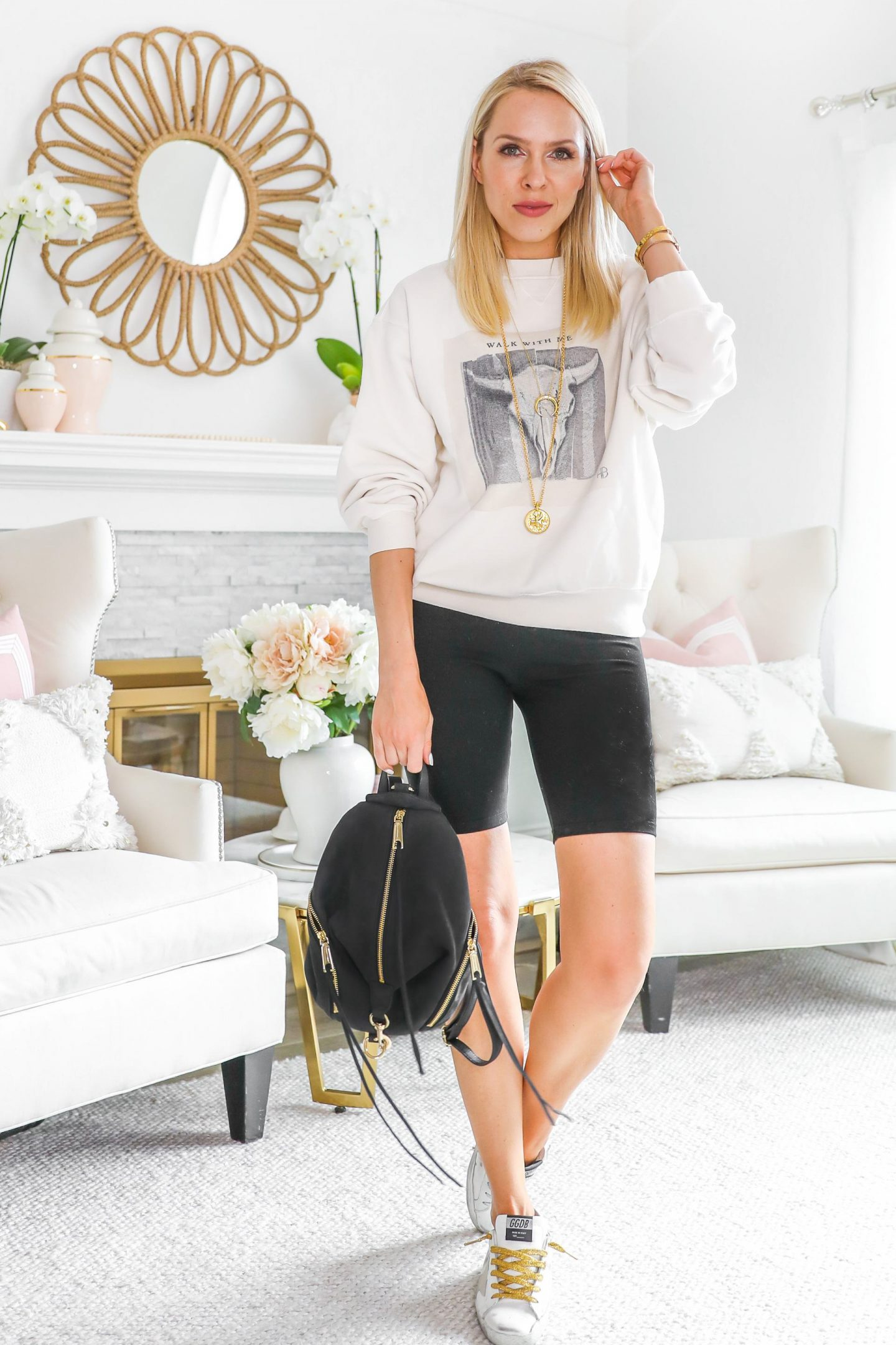 Yummie black biker shorts styled 5 chic ways featured by top San Francisco blogger Lombard and Fifth