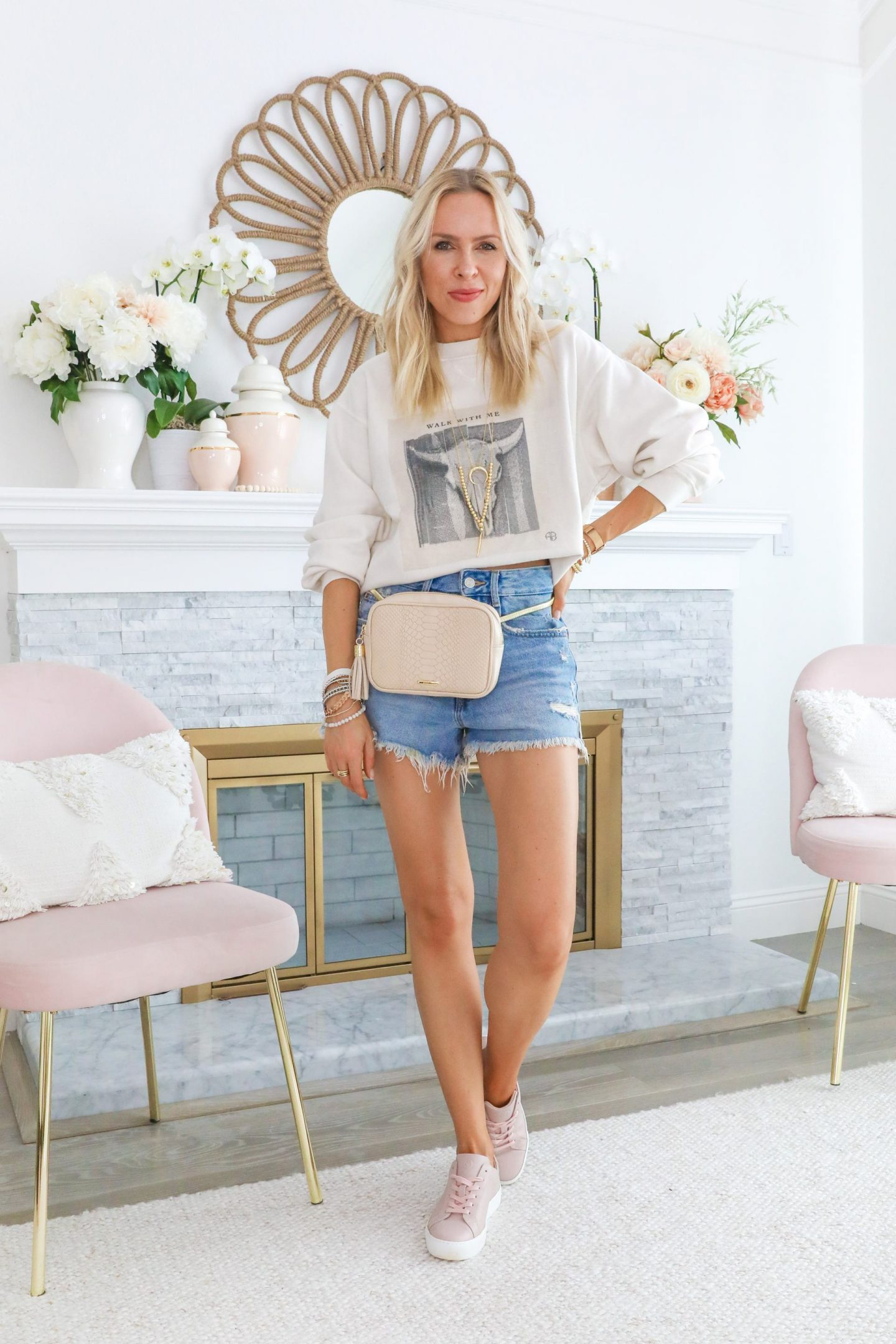 Anine Bing sweatshirt styled 5 ways, featured by top San Francisco blogger Lombard and Fifth.