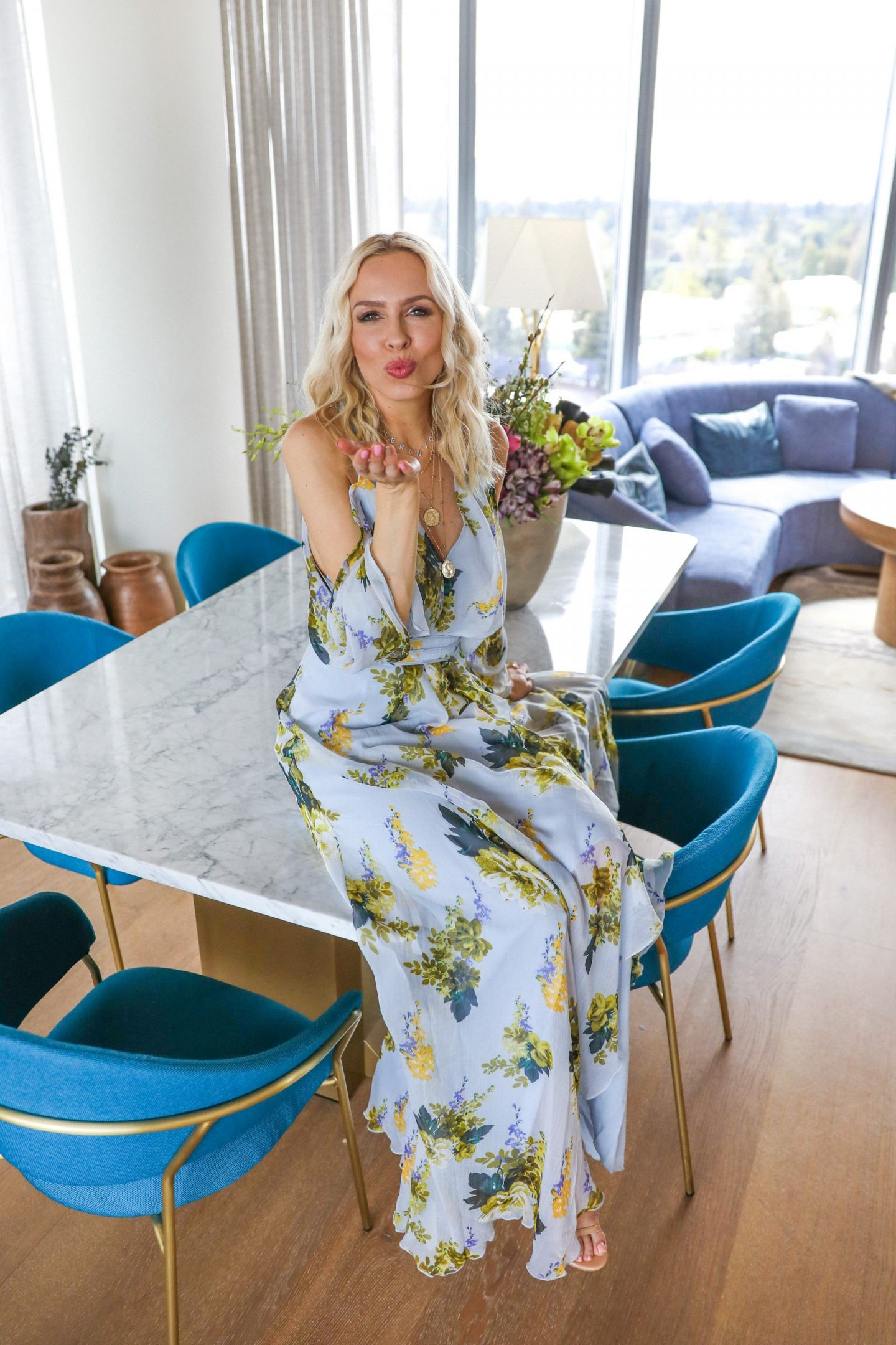 ASOS best floral sale dresses at the hotel NIA, featured by top San Francisco blogger Lombard and Fifth. Style ideas.