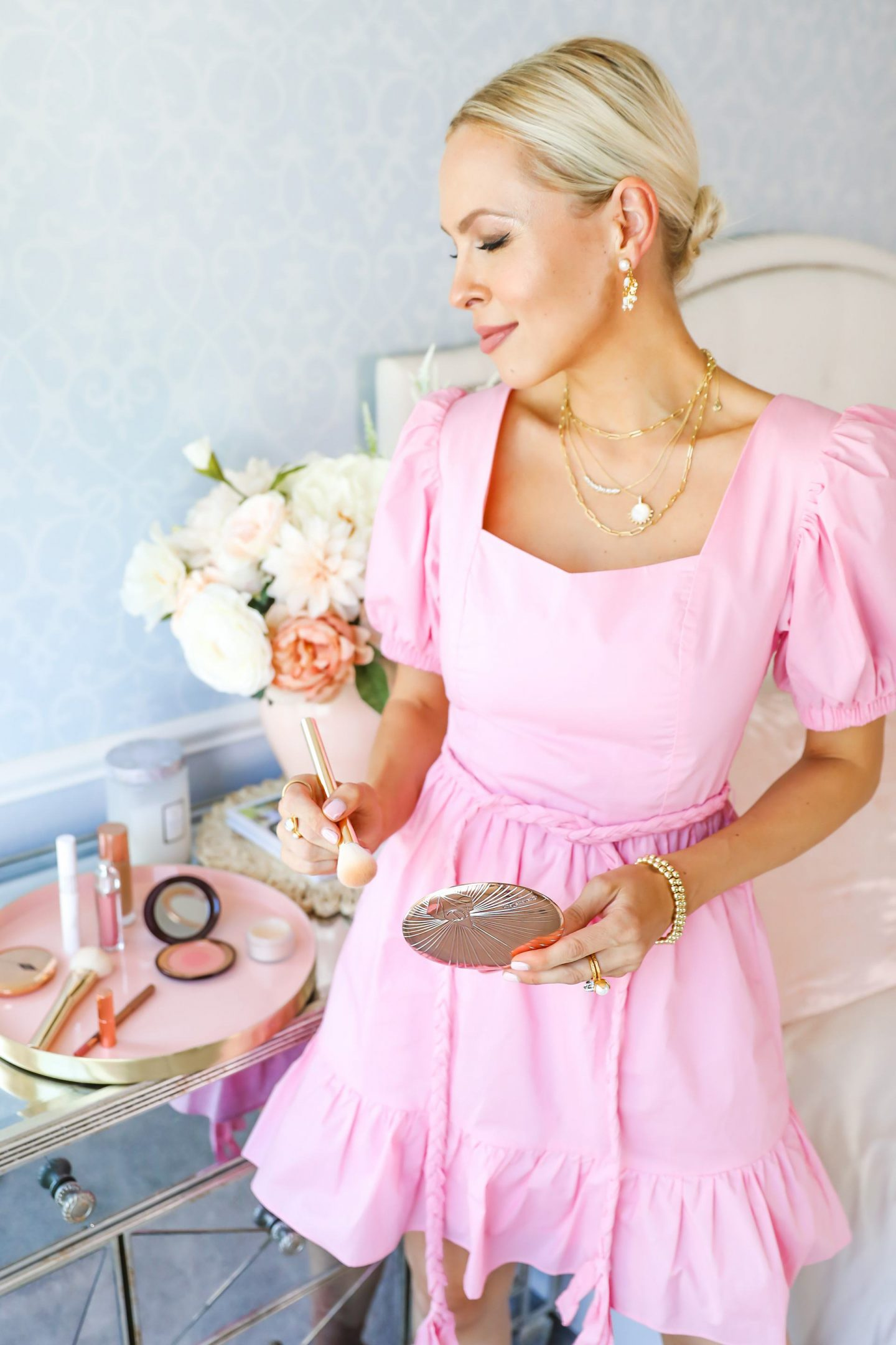 Nordstrom make-up favorite products for summer, featured by San Francisco style blogger Lombard and Fifth. Featuring Charlotte Tilbury bronzing powder, dior addict lip gloss, and urban decay naked eye palette.