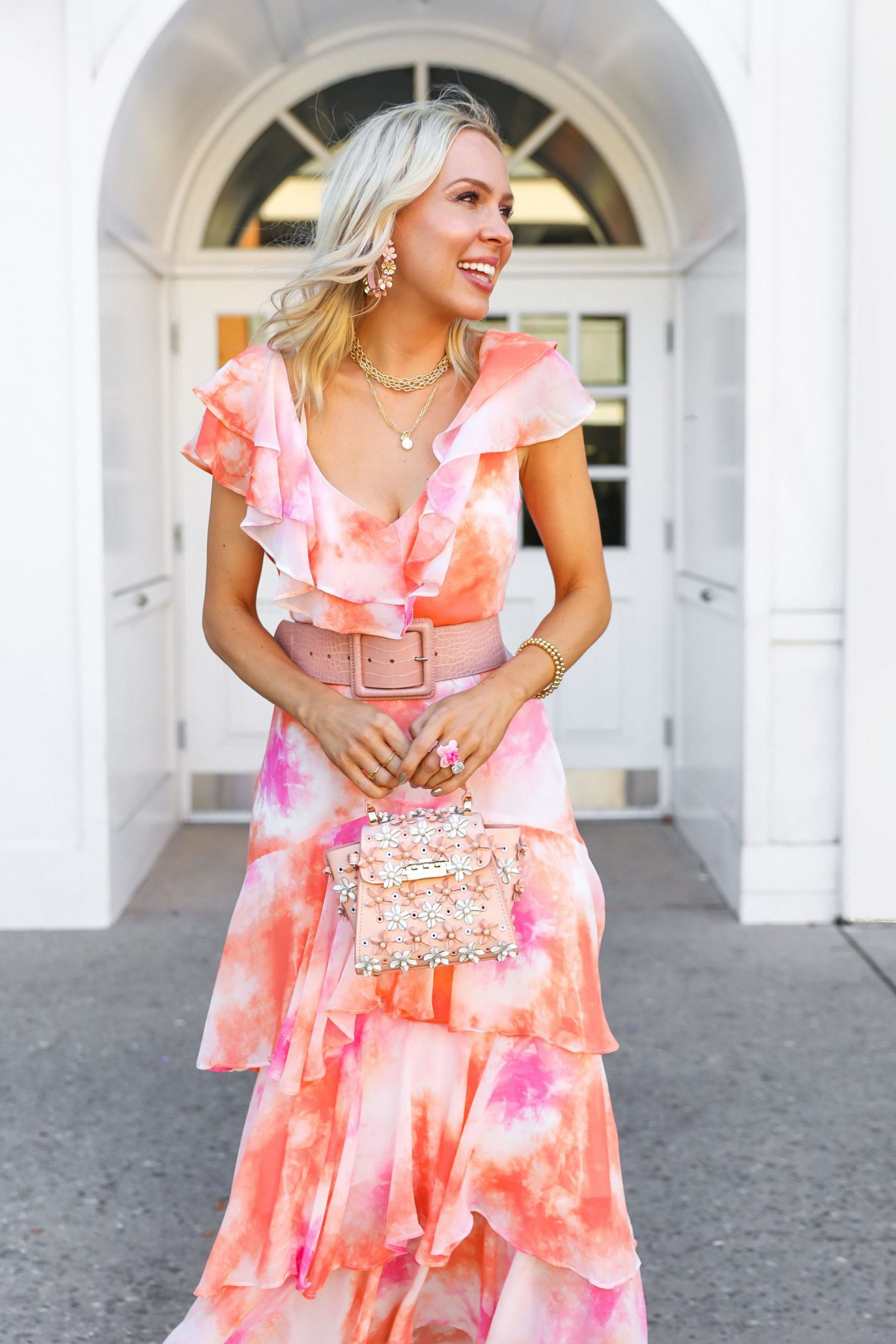 What is the Nordstrom sale and why do bloggers care about it so much, featured by San Francisco style blogger Lombard and Fifth. Wayf tie dye dress.