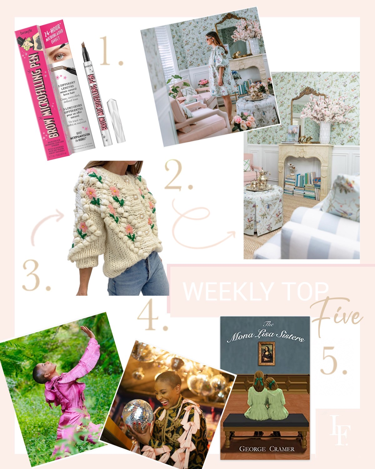 Weekly top five favorites, good reads, style and beauty featured by San Francisco style blogger Lombard and Fifth.