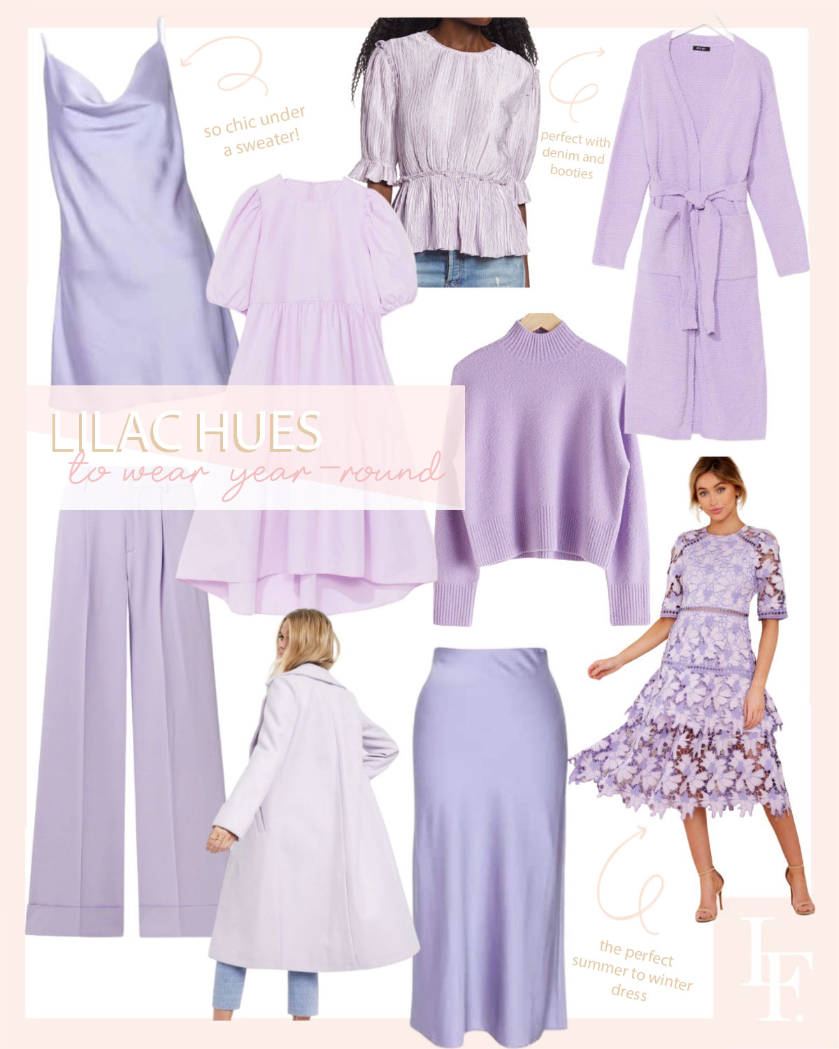Best lilac fashion 2020 for summer to fall, featured by San Francisco style blogger Lombard and Fifth.