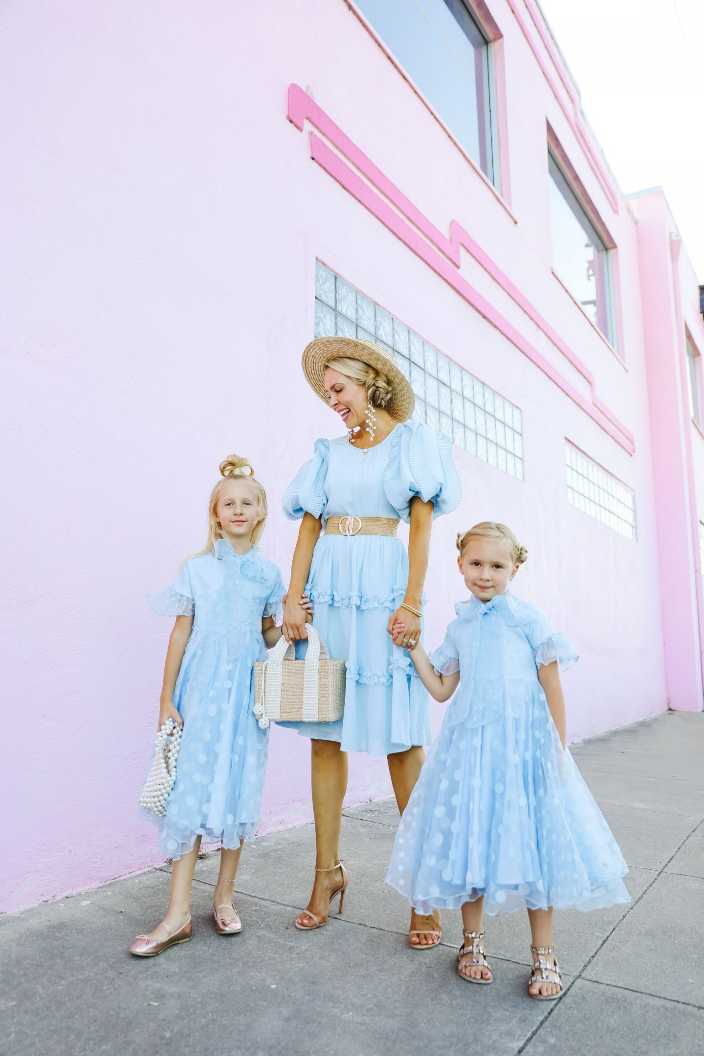 Mamaluma Official blue girls dresses mommy and me fashion, featured by San Francisco style blogger Lombard and Fifth.