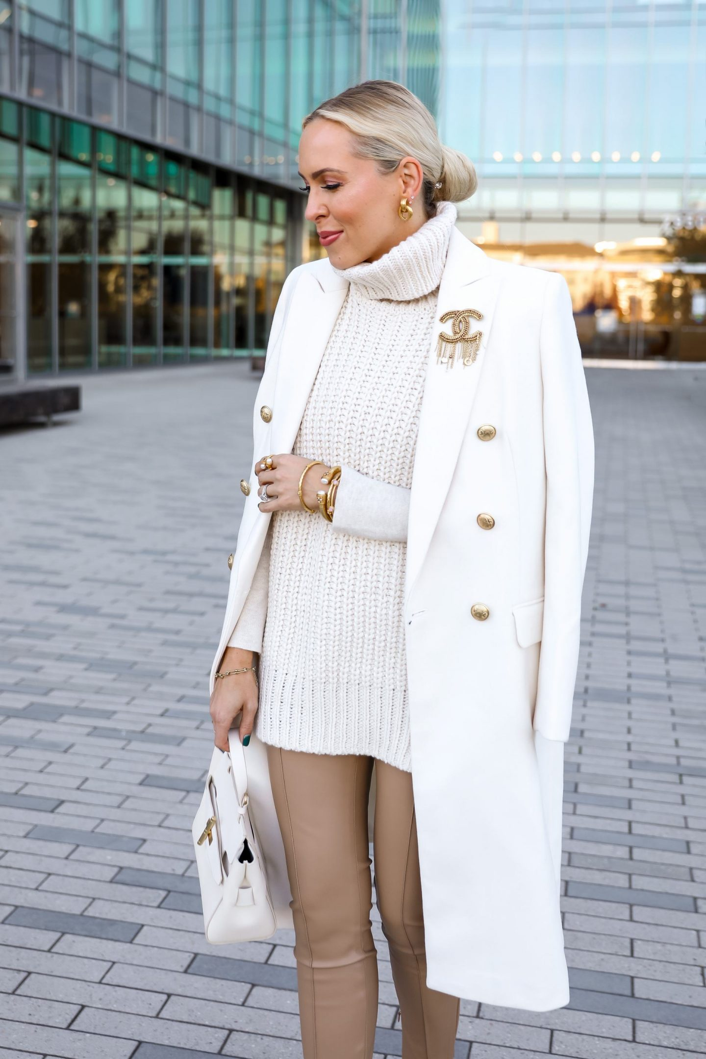 Express Sherpa white coat, best winter white style inspiration, by San Francisco fashion blogger Lombard & Fifth.