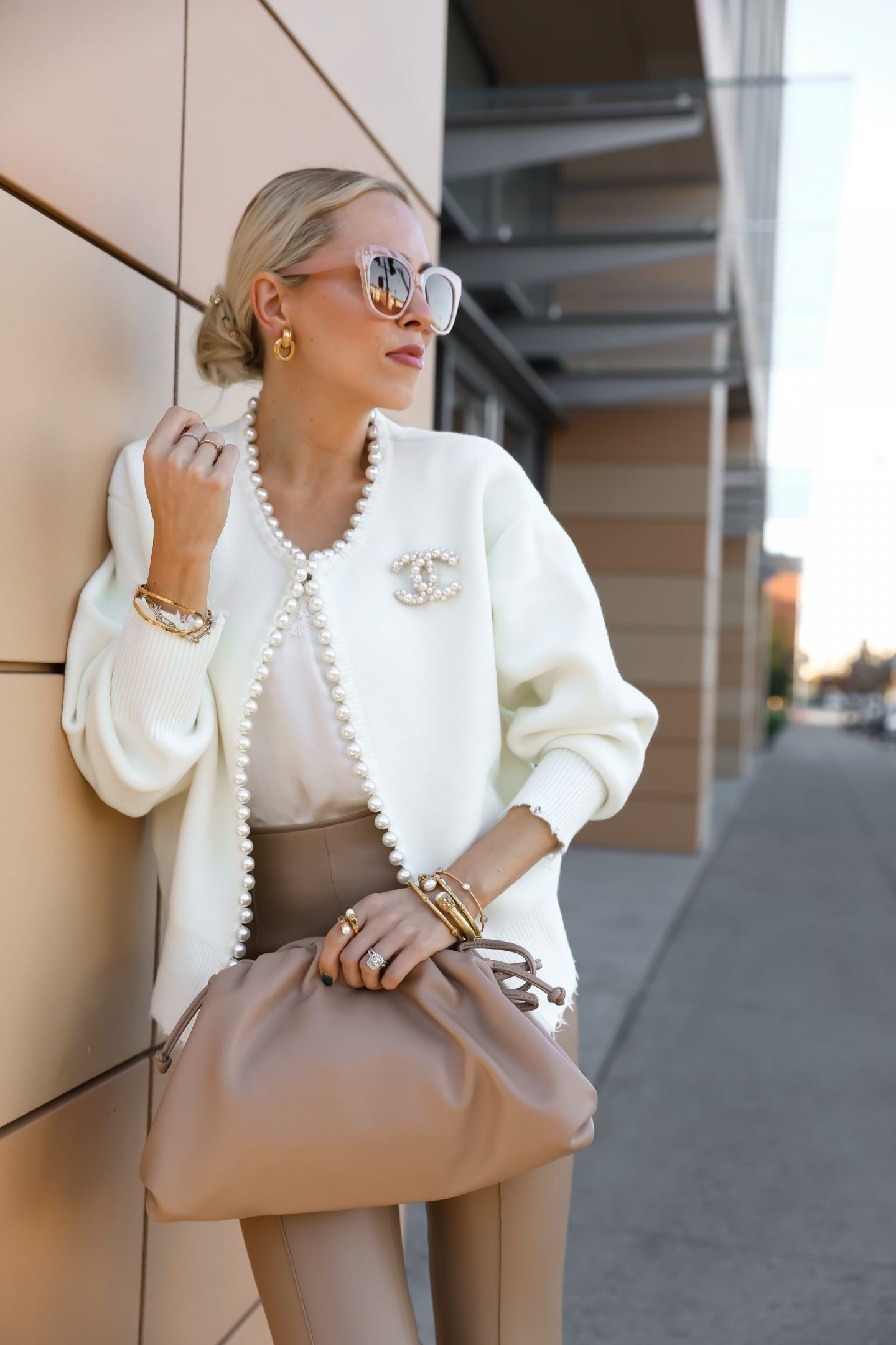 Vita Grace Isabella Pearl Edge cardigan and favorite pearl pieces, featured by San Francisco fashion blogger Lombard & Fifth.