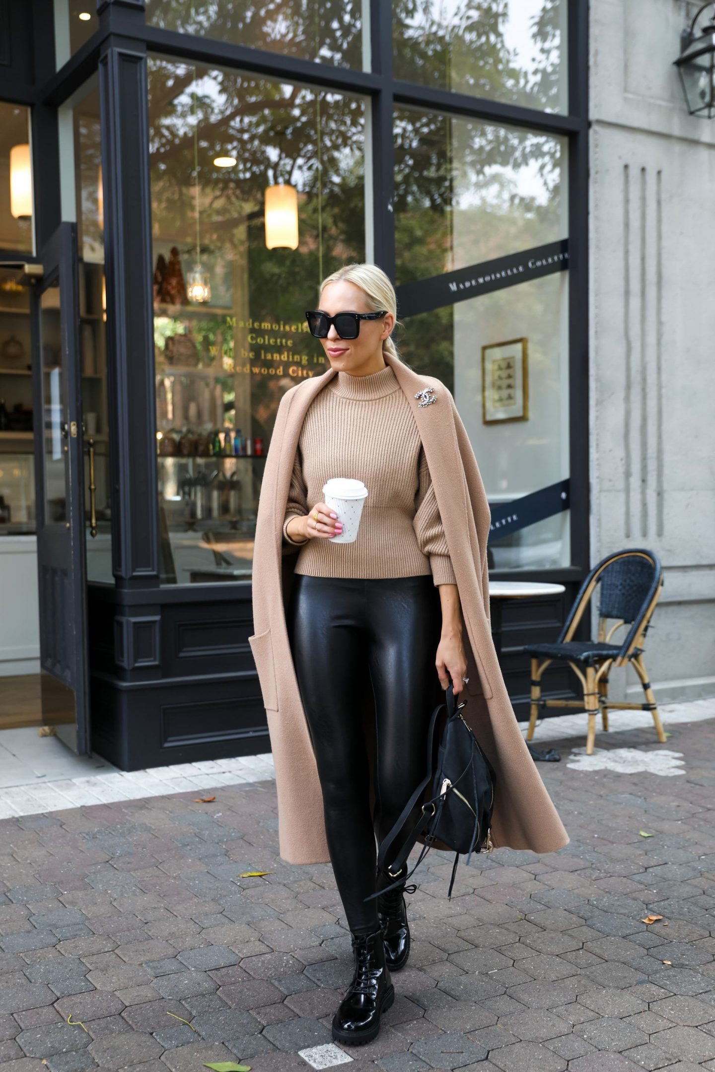 How to style a neutral coatigan for winter, by fashion blogger Lombard & Fifth.