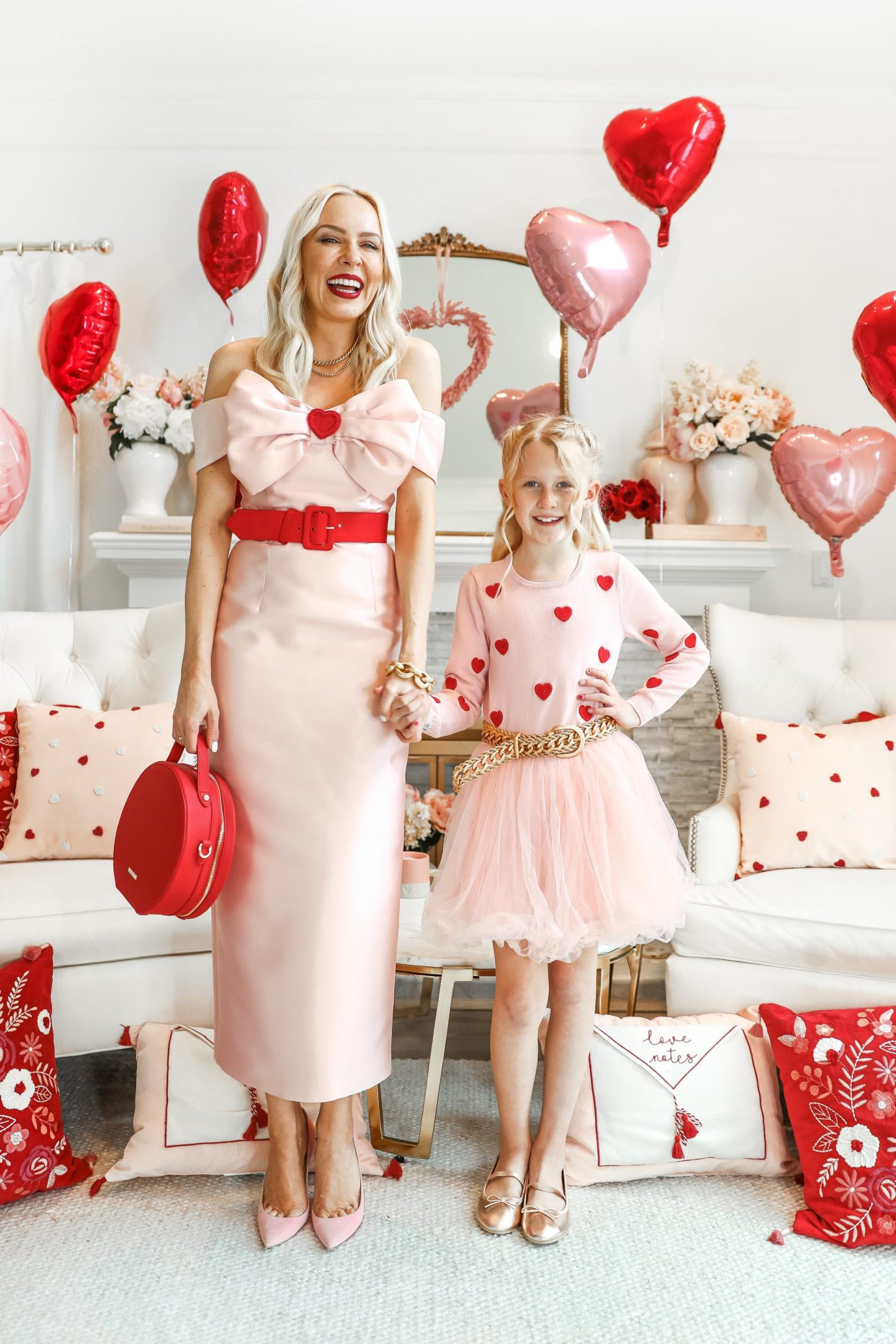 Valentine's Day fashion and décor inspiration for mommy and me, by Lombard & Fifth.