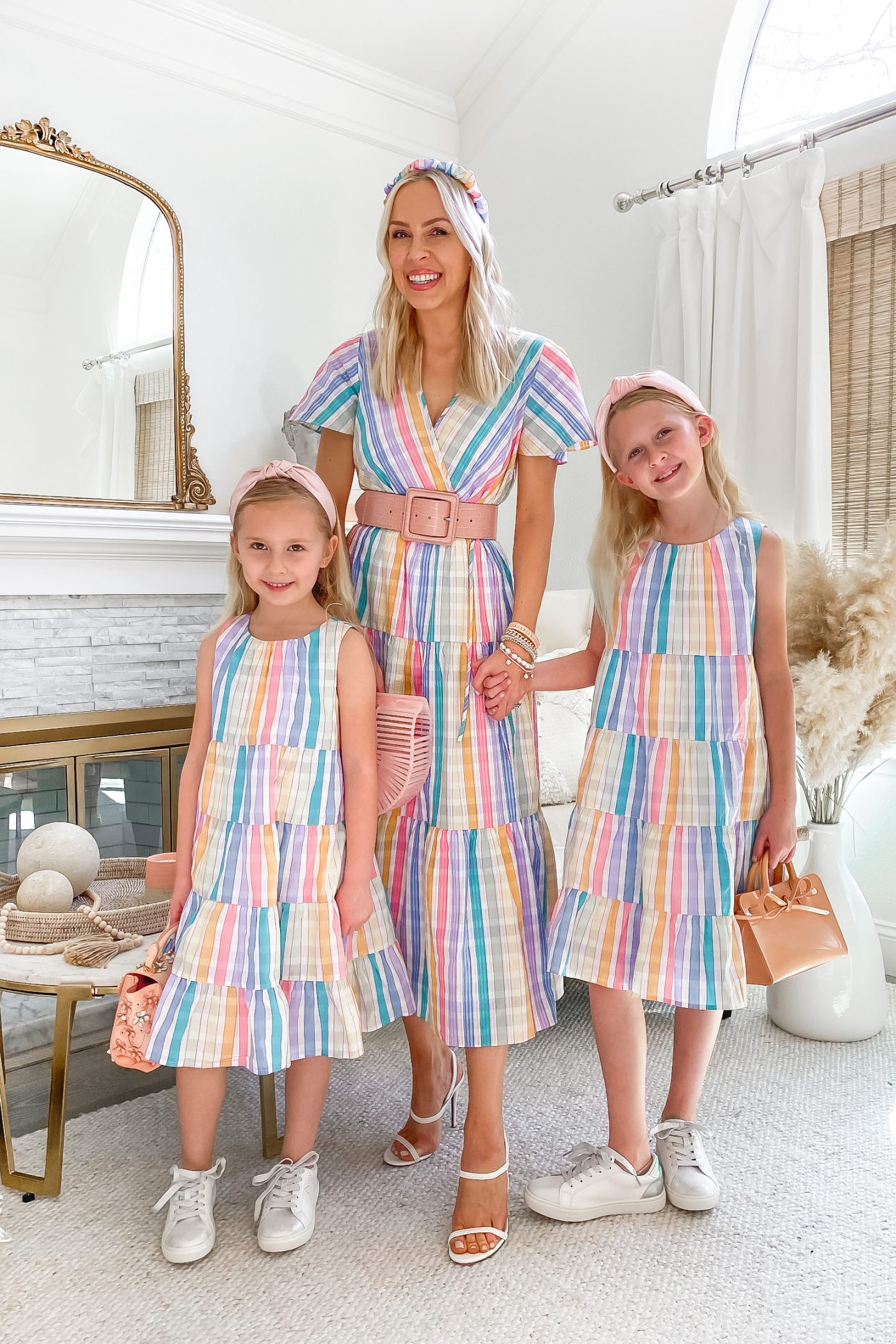Spring style inspiration for mommy and me, by Lombard & Fifth Veronica Levy. Pastels and feminine style ideas.