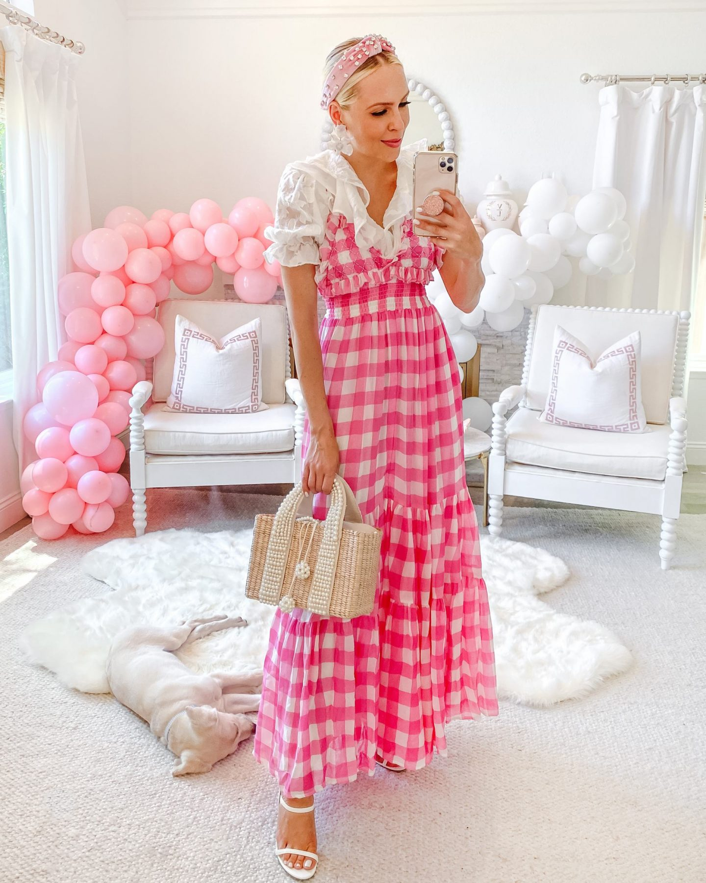 National Pink Day style inspiration. Looks from Veronica Beard, Kika Vargas, Nasty Gal, Maria Alexia and Sundress Official, by Lombard & Fifth Veronica Levy.