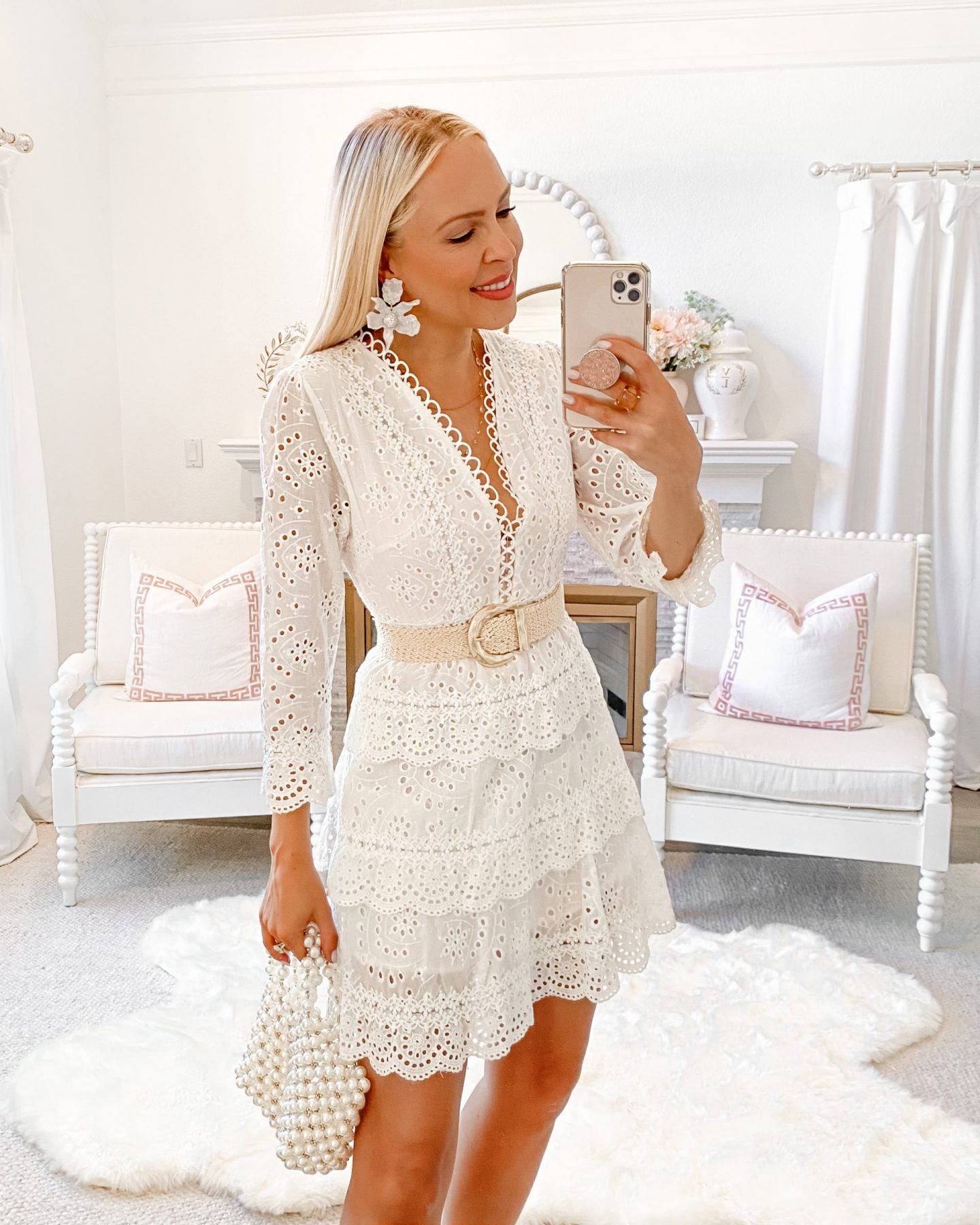 White dress style inspiration for summer, by Lombard & Fifth Veronica Levy.