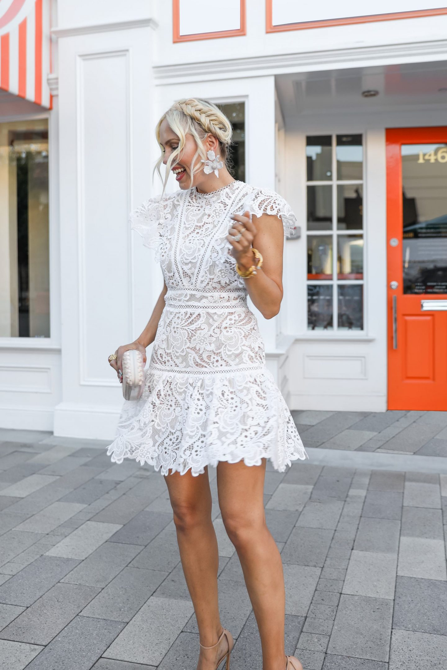 White dresses for summer style inspiration. Bridal shower. By Veronica Levy Lombard & Fifth.