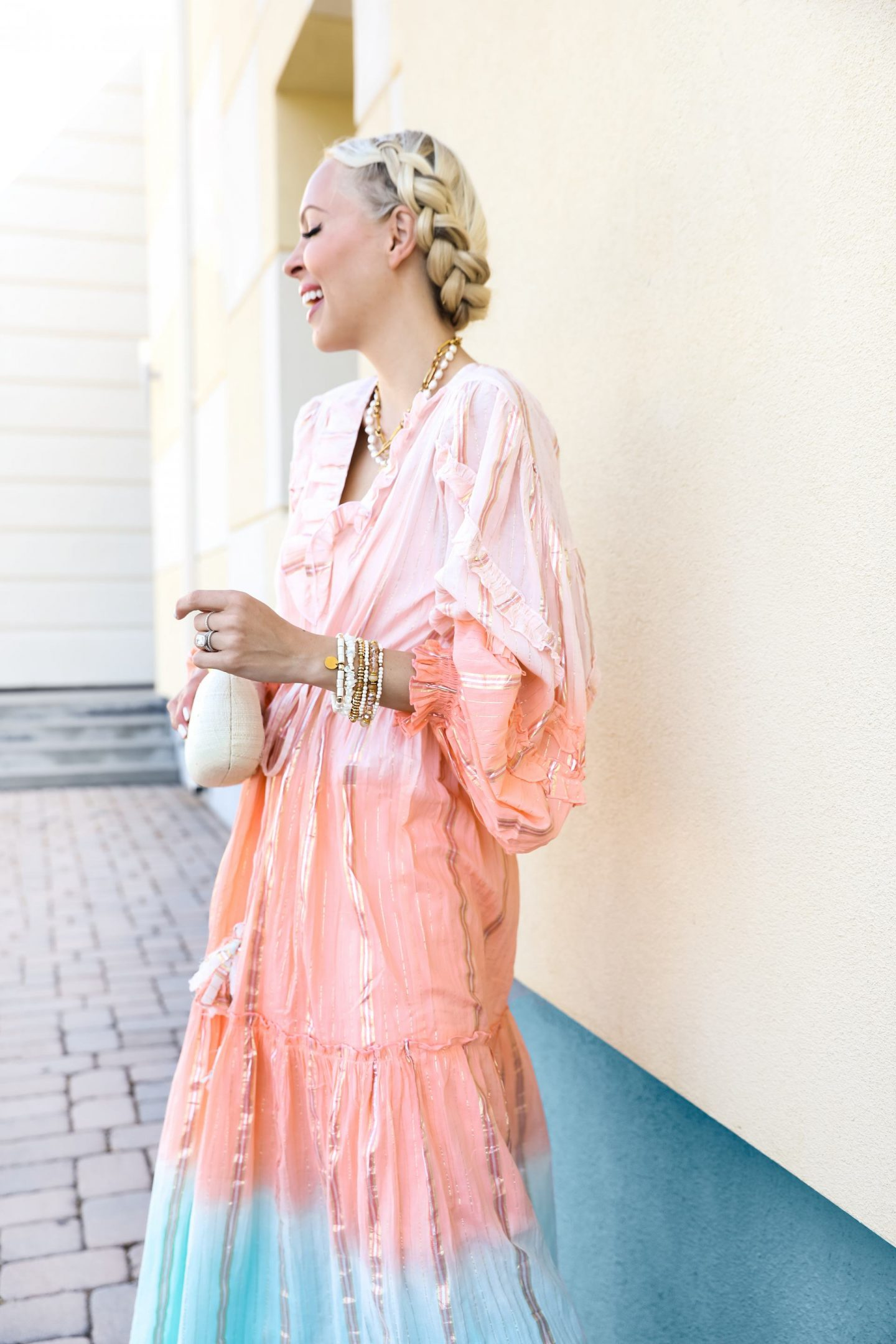 Miss June maxi dress via Outdazl, vacation travel style ideas. By Veronica Levy, Lombard & Fifth.