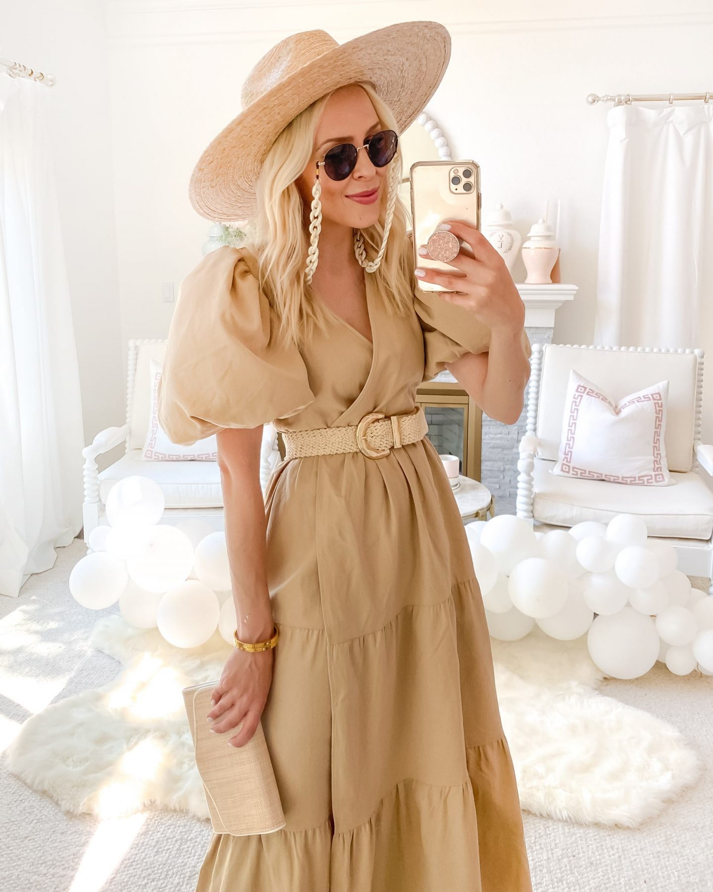 Summer style affordable puff sleeve dresses from Nasty Gal and Dillard's, featured by Lombard & Fifth Veronica Levy.
