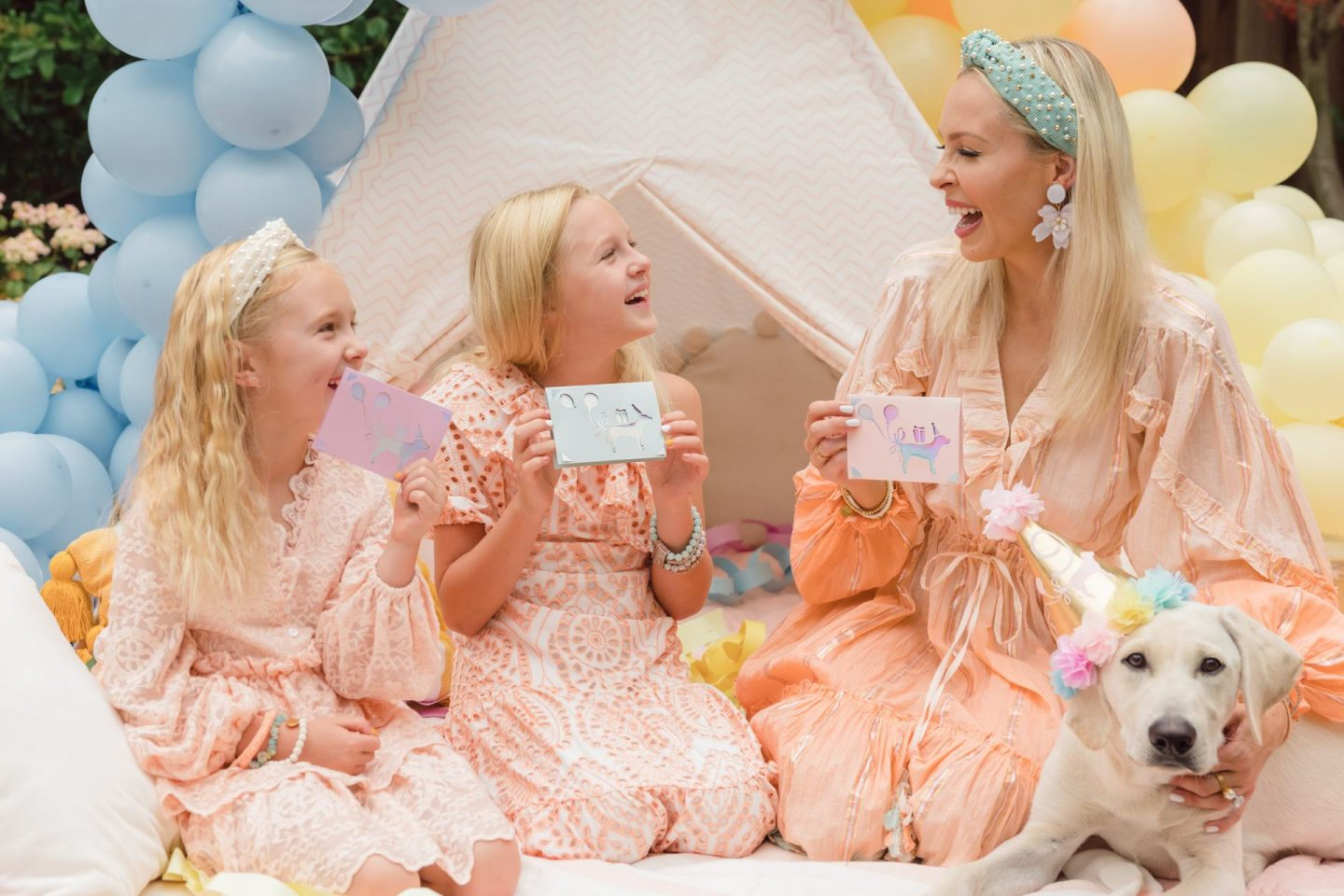 Cricut Joy DIY project ideas for summer party and family time. Pastel balloon garland, girl's birthday party, custom stickers. By Lombard & Fifth, Veronica Levy.